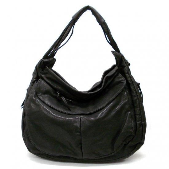 Maryl Hobo Handbag Purse, Black