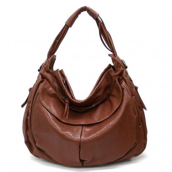 Maryl Hobo Handbag Purse, Cognaq