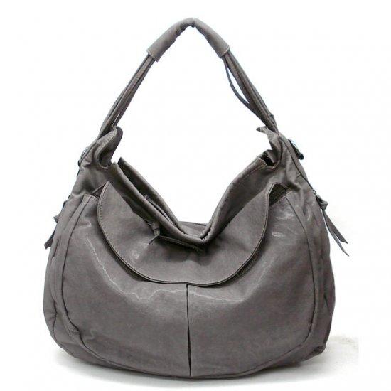 Maryl Hobo Handbag Purse, Grey