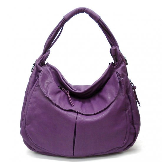 Maryl Hobo Handbag Purse, Purple