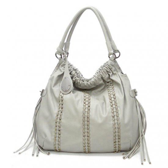 Clarette Hobo Handbag Purse, Grey