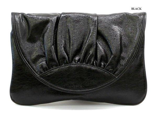 Hugette Clutch Handbag, Black