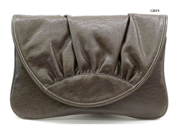 Hugette Clutch Handbag, Grey