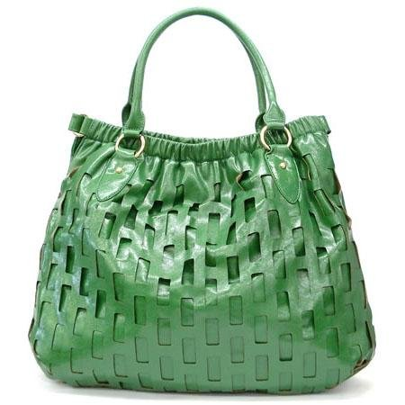 Mathilde Hobo Handbag Purse, Green