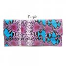 Faux Snake Leather Evening Clutch Bag, Purple