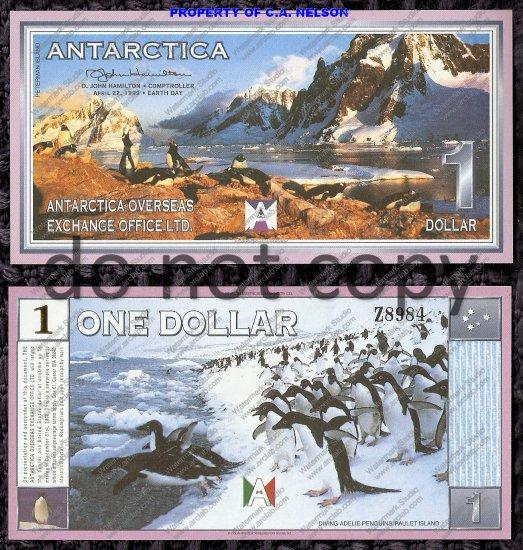 Antarctica $1 Dollar Bill 2nd Issue