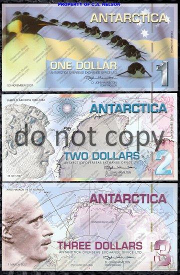 Antarctica 4 pc. Polymer Set $5, $3, $2, $1