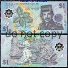 Brunei 1 Ringitt Polymer Banknote Foreign Money
