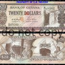 Guyana $20 Dollars Foreign Paper Money