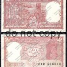 India 2 Rupees 1960s Tiger Banknote