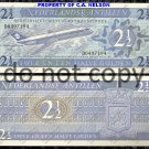 Netherlands 2 1/2 Antilles Foreign Paper Money Banknote