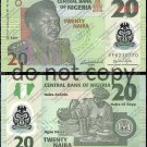 Nigeria 20 Naira Polymer Foreign Banknote Money