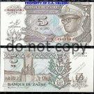 Zaire 5 Nouveau Makuta Foreign Paper Money Banknote