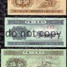 China 3pc. Fen Set Foreign Paper Money