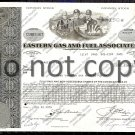 Eastern Gas and Fuel Associates Old Stock Certificate Type II Bronze