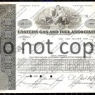 Eastern Gas and Fuel Associates Old Stock Certificate Type I Gray