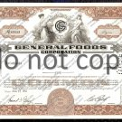 General Foods Corporation Old Stock Certificate Brown