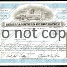 General Motors Corporation Old Stock Certificate Blue