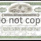 General Motors Corporation Old Stock Certificate Green