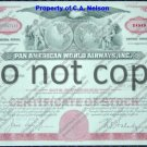 Pan American World Airways Old Stock Certificate Red