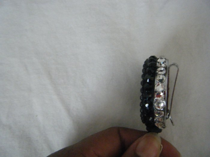 Jet Black and Clear Crystal