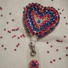 Red, Clear and Blue Swarovski Crystals