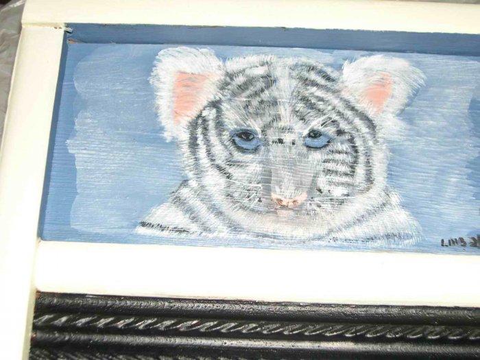Tiger/Cardinal Washboard Painting