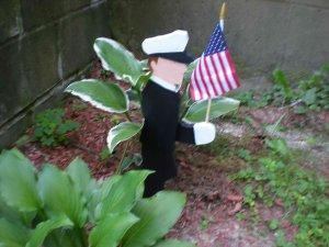 Sailor/Police Garden Stake Flag Holder(Coast Guard/Navy)