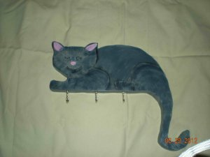 Black Cat Collar Holder
