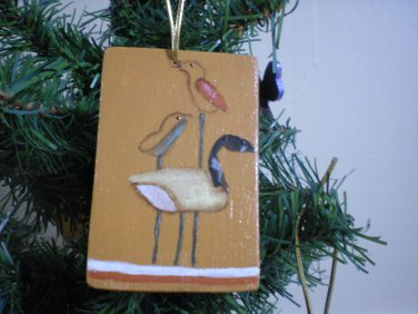 Duck Decoy Gift Tag Ornament