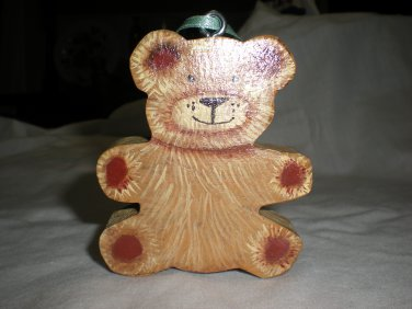 Chunky Bear Ornament, Gift Tag, Decoration