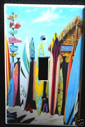 SURF SHACK SURF BOARDS LIGHT SWITCH COVER  Beach LOOK