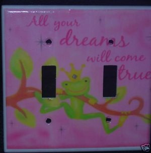 NOJO PRINCESS DREAMS DOUBLE LIGHT SWITCH COVER *LOOK*