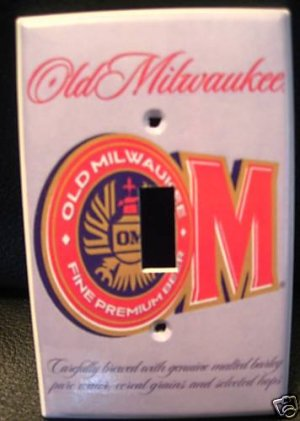 OLD MILWAUKEE BEER LIGHT SWITCH COVER  Unique LOOK! NEW