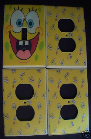 SPONGEBOB SQUAREPANTS LIGHT SWITCH & OUTLET COVERS