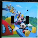Mickey's CLUBHOUSE DOUBLE LIGHT SWITCH COVER Cute!