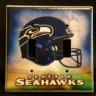 SEATTLE SEAHAWKS DOUBLE LIGHT SWITCH COVER *Great Gift