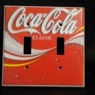COCA COLA with BUBBLES DOUBLE LIGHT SWITCH COVER Coke