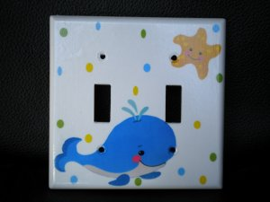 Fisher Price PRECIOUS PLANET DOUBLE LIGHT SWITCH PLATE