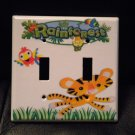 Fisher Price RAINFOREST DOUBLE LIGHT SWITCH PLATE Cute!