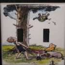 CLASSIC POOH DOUBLE LIGHT SWITCH COVER Winnie the Pooh