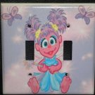 ABBY CADABBY DOUBLE LIGHT SWITCH COVER Sesame Street