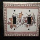 Linda Spivey HEARTS & STARS DOUBLE LIGHT SWITCH COVER