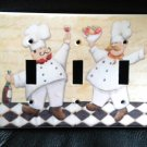 FAT CHEF TRIPPLE LIGHT SWITCH COVER  Kitchen Decor