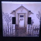 Linda Spivey OUTHOUSES DOUBLE LIGHT SWITCH COVER decor