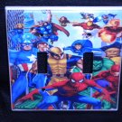 MARVEL SUPER HEROES DOUBLE LIGHT SWITCH COVER Cool!