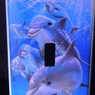 DOLPHINS LIGHT SWITCH COVER LOOK beautiful blue water
