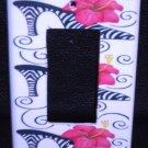 ZEBRA HIGH HEEL Hot PINK Flower Rocker LIGHT SWITCH GFI