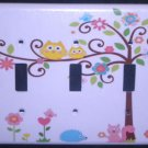 Dena HAPPI TREE TRIPPLE LIGHT SWITCH COVER Owl switch plate Kids Line Happi Tree