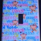 American Kids MONKEY LIGHT SWITCH COVER  Peace Love & Rock n Roll Monkey CUTE!